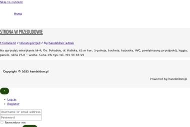 Biuro Obrotu Nieruchomościami Handeldom Mirosław Roszczyniała - Sprzedaż Mieszkań Włocławek