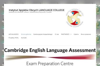 LANGUAGE COLLEGE - Język Angielski Radom