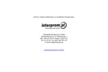 Interprom - Linki sponsorowane, banery Szydłowiec