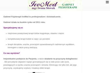 Gabinet Fizjoterapii IVOMED - Masaże Relaksacyjne Busko-Zdrój
