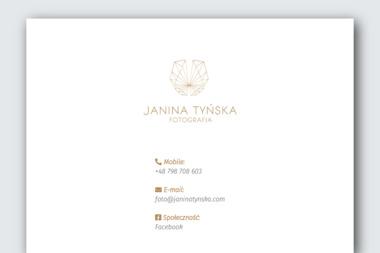 Janina Tyńska Fotograf - Fotografowanie Gliwice