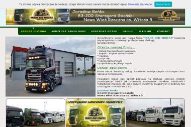 Usługi Dźwigowe Trans Ben Trucks Jarosław Beńko. Dźwig, wynajem dźwigu - Dźwigi Nowa Wieś Rzeczna
