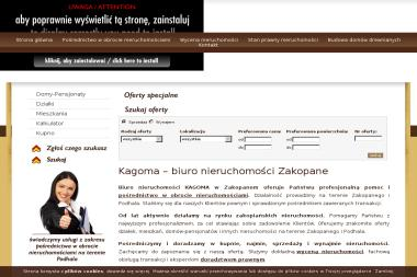 Nieruchomości Kagoma Katarzyna Gołąb Majek - Agencja nieruchomości Czarny Dunajec