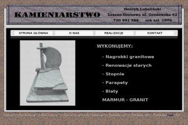 Zakład Kamieniarski Henryk Luboliński. Kamieniarstwo, nagrobki - Schody Drewniane Leszno