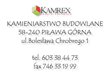 Kamrex. Kamień Naturalny - Posadzki żywiczne Piława Górna
