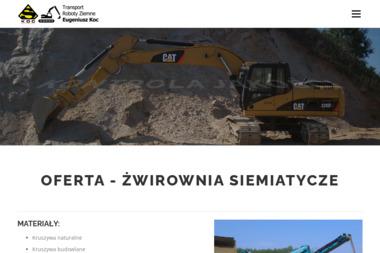 Transport Roboty Ziemne Eugeniusz Koc - Piasek do Piaskownicy Siemiatycze