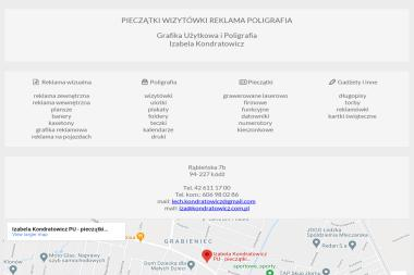 Zakład Grafiki Użytkowej Izabela Kondratowicz PU - Wizytówki Łódź