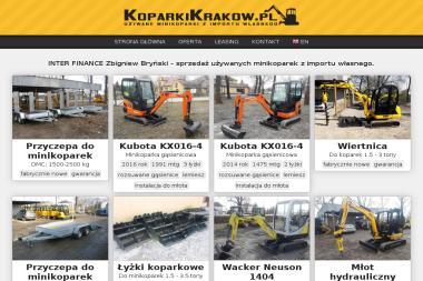 INTER FINANCE - Sprzedaż Maszyn Budowlanych Kraków
