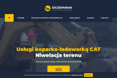 FHU Adam Mikołajec. Koparko-ładowarka, koparka, usługi koparko-ładowarką - Usuwanie Azbestu Wisła Mała