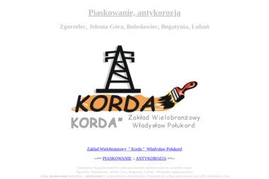 """""""KORDA"""" Zakład Wielobranżowy - Piaskowanie Zgorzelec"""