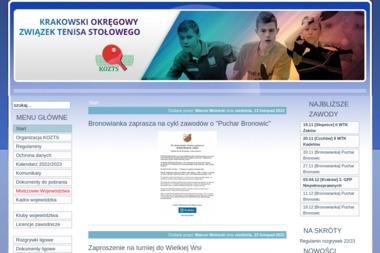 Krakowski Okręgowy Związek Tenisa Stołowego - Szkoła Jazdy Kraków
