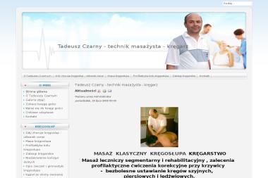 Tadeusz Czarny - technik masażysta - kręgarz - Masaże Relaksacyjne Przeworsk