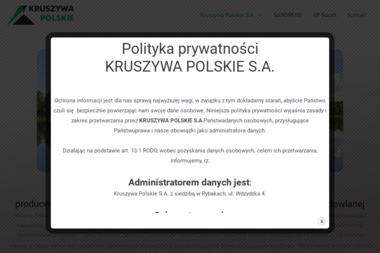 Kruszywa Polskie S.A. - Żwir Budowlany Wąglikowice