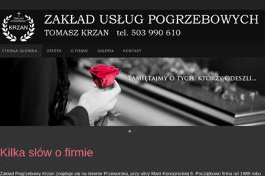 Tomasz Handel Drewnem i Tarcicą Usługi Pogrzebowe Tomasz Krzan - Transport Towarowy Nowosielce