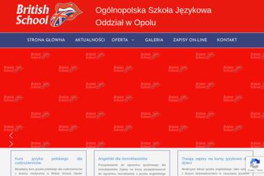 Ogólnopolska Szkoła Językowa British School - Nauczyciele angielskiego Opole