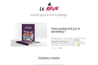 Le REVE szkoła języka francuskiego - Kurs francuskiego Wrocław
