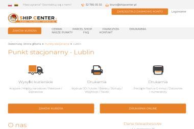 Ship Center Lublin, kurier i poligrafia - Ulotki Lublin