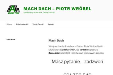 Usługi Budowlane - Dachy Wróbel Piotr - Dekarz Zamość