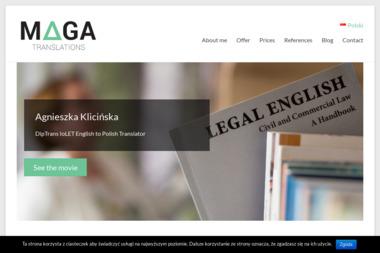 MAGA Translations Tłumaczenia z angielskiego - Tłumacze Kluczbork