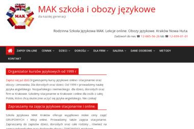 Szkoła Językowa MAK - Język Angielski Kraków