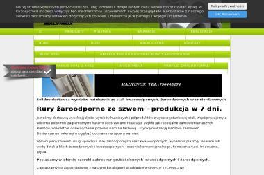 PPUH Malvinox. Rury kwasoodporne, rury żaroodporne - Skład budowlany Bytom