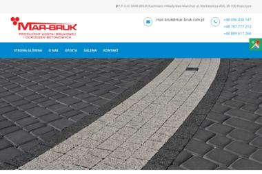 Firma Produkcyjno Usługowo Handlowa Mar Bruk K w Marchut - Materiały Budowlane Ropczyce