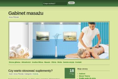 Anna Pilśniak. Masaże kręgosłupa, masaże relaksacyjne, masaż odchudzający - Dietetyk Oława