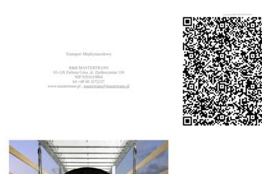 Ryszewski Bartosz R&R Mastertrans - Transport ciężarowy krajowy Zielona Góra