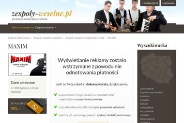 Zespół muzyczny Maxim - Zespół muzyczny Kędzierzyn-Koźle