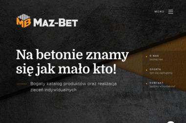 Zakład Produkcyjno Usługowy Maz Bet Mazur Paweł - Betonowy Podjazd Futoma