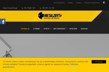 METALZBYT Sp. z o.o. Wyroby hutnicze Artykuły metalowe Materiały budowlane i narzędzia - Skład budowlany Tczew