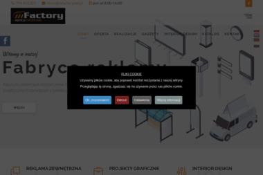 Mfactory Marcin Mitrut. Reklama zewnętrzna, szyldy reklamowe, tablice bilboardowe - Ulotki Sobianowice