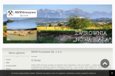MKM Kruszywa - Żwir Budowlany Nowy Targ