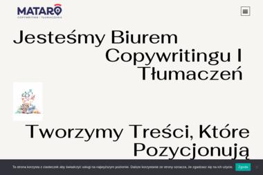 Mataro Karolina Malik-Miłek. Copywriting, tłumaczenia - Copywriter Świętochłowice