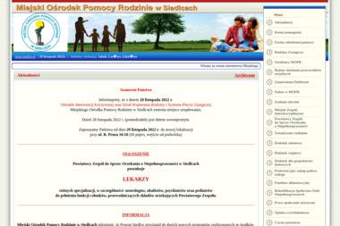 Miejski Ośrodek Pomocy Rodzinie w Siedlcach - Pomoc domowa Siedlce