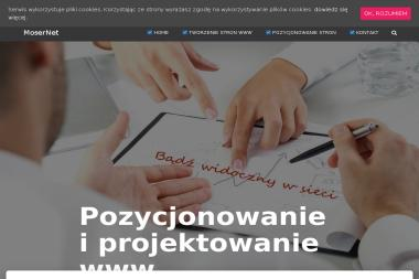 Projektowanie i Pozycjonowanie Moser Net - Usługi SEO Łódź