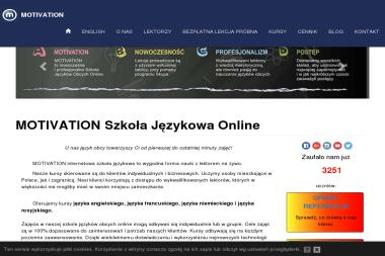Motivation Szkoła Języków Obcych Online Magdalena Szelinger - Język hiszpański Siedlce