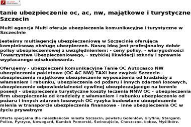 Multi Ubezpieczenia, Doradca Ubezpieczeniowy - Ubezpieczenie firmy Szczecin