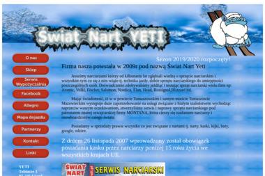 Serwis Narciarski Yeti Ośrodek Edukacyjny. Serwis nart, wypożyczalnia nart - Negocjacja Handlowa Tobiasze