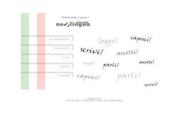 Neolingua Język Włoski Tłumaczenia i Kursy Językowe Ewelina Konstanciuk - Język Wloski Dla Początkujących Biała Podlaska