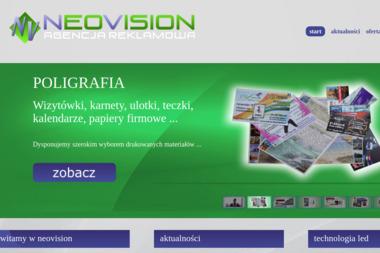NeoVision Agencja Reklamowa. Telebim, poligrafia, strony www - Druk Ulotek Gniezno