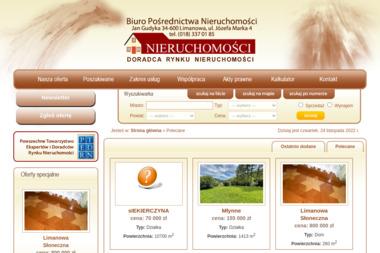 Biuro Pośrednictwa Nieruchomości. Jan Gudyka - Agencja nieruchomości Limanowa