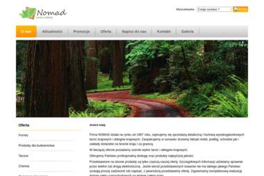 Nomad Dariusz Włodarczyk. Skład tarcicy, skład drewna - Tartak Maszewo