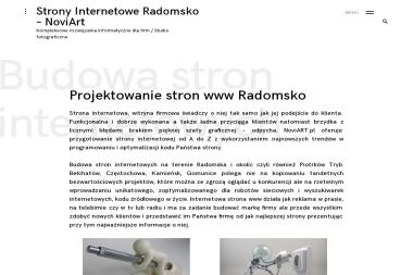 NoviART.pl - Strony Internetowe Radomsko