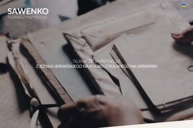 Tłumacz przysięgły języka ukraińskiego w Warszawie Sawenko - Tłumaczenia dokumentów Warszawa