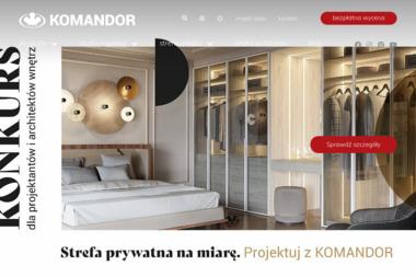 """Komandor Opole S.A. Autoryzowany Dealer """"Zakład Usług Stolarsko- Budowlanych Dawid Bil"""", Szafy, - Meble na wymiar Brzeg"""