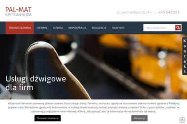 Usługi Dźwigowo-Transportowe Handel i Produkcja PAL-MAT Janusz Pajda - Maszyny budowlane Cieszacin Wielki