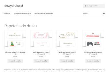 Papierowe Drobiazgi Marta Michałek. Wizytówki, ulotki - Drukarnia Bielsko-Biała