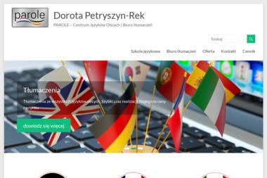 Dorota Petryszyn Rek Parole Szkoła Języka Niemieckiego i Francuskiego; Biuro Tłumaczeń - Szkoła językowa Łuków