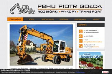 PBHU Piotr Gołda. Prace ziemne, wykopy, niwelacje terenu - Roboty Ziemne Stalowa Wola
